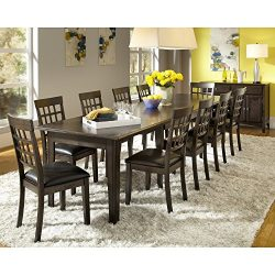 A-America Bristol Point 132″ Rectangular Dining Table with (3) 24″ Leaves, Warm Grey