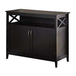 Target Marketing Systems Southport Collection Contemporary Storage Buffet With Two Cabinets and  ...