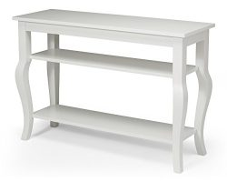 Kate and Laurel Lillian Wood Console Table with Display Shelves – Cabriole Legs – Ea ...