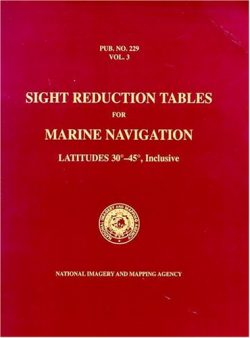 PUB 229 Sight Reduction Tables for Marine Navigation, Volume 3: Latitudes 30° – 45°, Inclusive