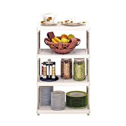 Expandable Kitchen Bakers Rack Kitchen Counter and Cabinet Shelf Organizer