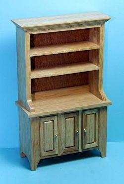 Dollhouse & Miniature Kitchen Dining Room Hutch in Oak ~ CLA10227