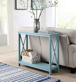 Convenience Concepts 203099SF Oxford Console Table, Sea Foam