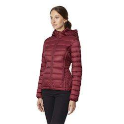 32 DEGREES Womens Ultra Light Down Packable Jacket, Wine Rack, XXLarge