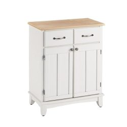 Home Styles 5001-0021 Buffet of Buffets 5001 Series Wood Top Buffet Server, White Finish