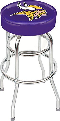 Imperial Officially Licensed NFL Furniture: Swivel Seat Bar Stool, Minnesota Vikings