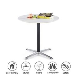"Sunon Round Bistro Table Dia31.5""x29.5"" Height Small Round Table with X-Style Pedestal for Pub T ..."