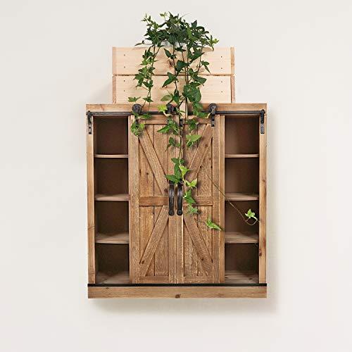 Farmhouse Sliding Door Console Cabinet: Sliding Barn Door Wall Storage Cabinet Freestanding