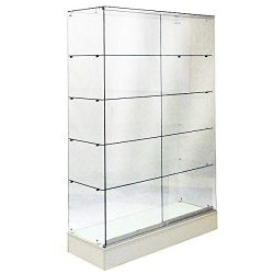 Frameless All Glass Display Case, Wallcase, Trophy Case, 48″ LONG BY 72″ TALL, WITH  ...