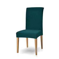 Subrtex Dyed Jacquard Stretch Dining Room Chair Slipcovers (4, Turquoise)