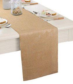 "Burlap Table Runner 12″ X 108""- Rustic Wedding Decoration Table Runner Decoration &# ..."