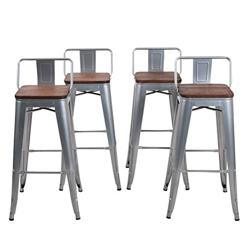 changjie furniture low back metal bar stool for indoor outdoor kitchen counter bar stools set of. Black Bedroom Furniture Sets. Home Design Ideas