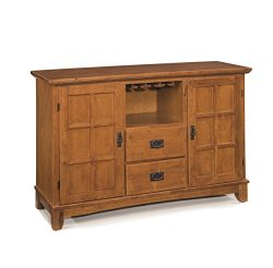 Home Style  Arts and Crafts Buffet, Cottage Oak Finish