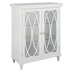 Double Door Floor Cabinet in White