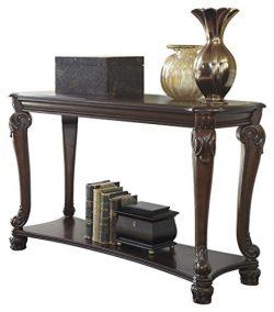 Ashley Furniture Signature Design – Norcastle Sofa Table – Rectangular – Dark  ...