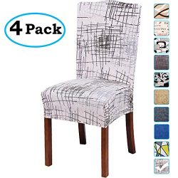 misaya Stretch Spandex Dining Room Chair Cover Removable Washable Chair Protector Flowers Painti ...