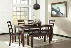 Ashley Furniture Signature Design – Coviar Dining Room Table and Chairs with Bench (Set of ...