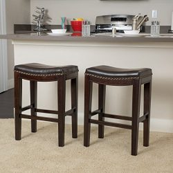 Christopher Knight Home 237480 Avondale Brown Backless Counter Stools (Set of 2)