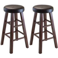 Marta Counter Stools, 24″, Set of 2, Antique Walnut + Expert Guide