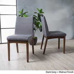 Christopher Knight Home 300022 Dimitri Dining Chairs (Set of 2), Dark Gray