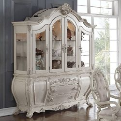 Soflex Classic Riviera Antique White Hutch and Buffet Traditional
