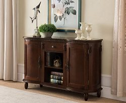 Kings Brand Furniture – Wood Buffet Server/Sideboard Console Table Cabinet, Walnut