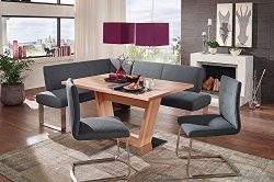 4 Piece Dining Set, High End Corner bench, Safran 200 breakfast nook with P120 Dining Table