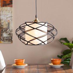 Southern Enterprises Alento Wire Cage Pendant Lamp in Black