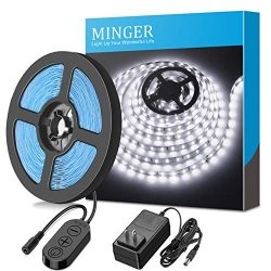 Dimmable LED Strip Lights, MINGER LED Mirror Lights Kit for Vanity Makeup Dressing Table 6000K B ...