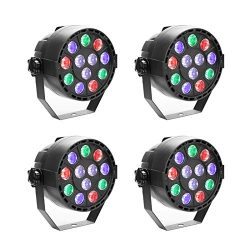 GBGS Led Par uplighting Par Wall Wash Wedding DJ Up Light RGBW Color Mixing Can Lamp for KTV Bar ...