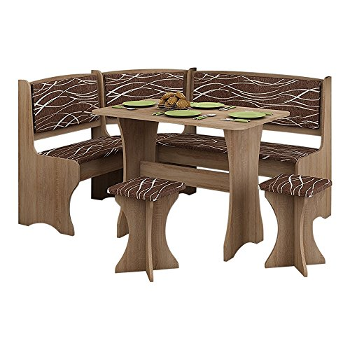 Breakfast Kitchen Nook Table Set, Bench Seating With