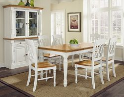 Home Styles  Monarch Rectangular Dining Table and Six Double X-Back Chair