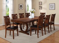 Milton Greens Stars 8878DB Vernon Dining Table, 84 by 42 by 30-Inch, Dark Brown