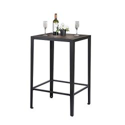 GreenForest Bar Table Modern Pub Height Table Square Wood Bistro Table High Top Cocktail Table C ...