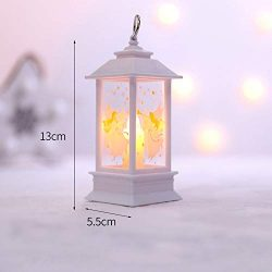Gotian PVC Christmas Candle Tea Light Candles for Christmas Party Decoration Gift with LED (B)