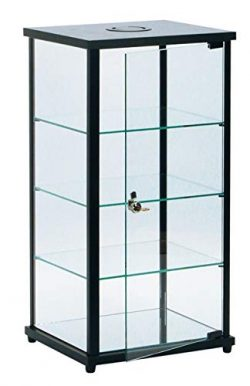 SSWBasics Lighted Glass Countertop Display Case – 27″ H x 12″ D x 14″ L