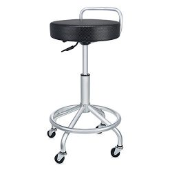 Seville Classics SHE18294B UltraHD Cushioned Pneumatic Work Stool, Steel
