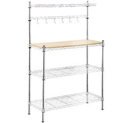 Metal Baker's Rack OrganizerStand Shelf Kitchen M icrowave Cart Storage Countertop Dorm Mi ...