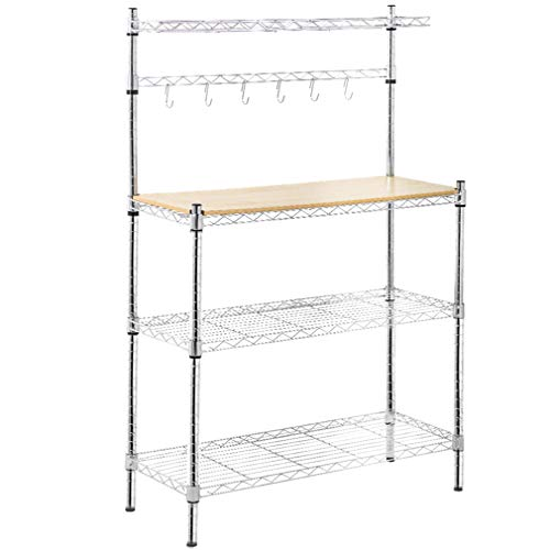 metal baker u0026 39 s rack organizerstand shelf kitchen m icrowave cart storage countertop dorm