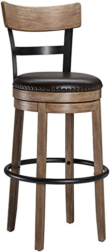 Ball & Cast Swivel Bar Stool – Pub Height – Light Brown