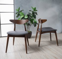 Christopher Knight Home 299971 Barron Dining Chair (Set of 2), Charcoal
