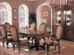 Coaster Home Furnishings Saint Charles 2-Door Hutch Antique Brown and Clear