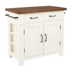 INSPIRED by Bassett BP-4207-942 Urban Farmhouse Island, Distressed White