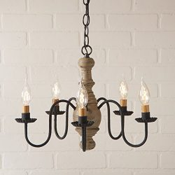 Irvin's Country Tinware Lancaster Chandelier in Pearwood