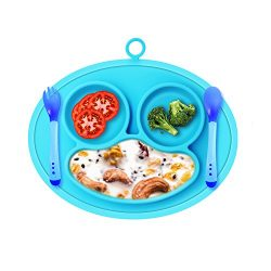 Silicone Baby Placemat, Kitchen Dining Table Suction Plates Toddlers, Children, Kids, Fits Most  ...