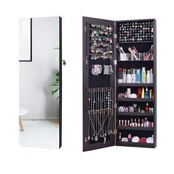 AOOU Jewelry Organizer Jewelry Cabinet,Full Screen Display View Larger Mirror, Full Length Mirro ...