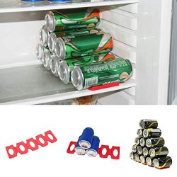 ❤️MChoice❤️Wine Bottle Organizer Holder Silicone Stacker Cans Fridge Mats Beverages Racks