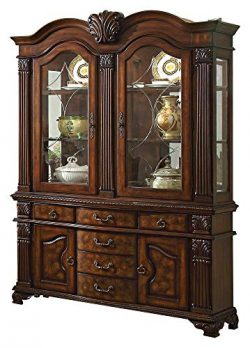 Timmons European Estate Buffet & Hutch in Rich Cherry