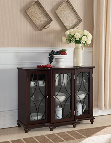 Kings Brand Furniture – Wood Storage Sideboard Buffet Cabinet Console Table, Cherry