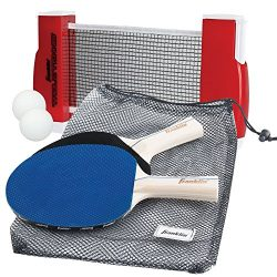 Franklin Sports Table Tennis To-Go – Complete Portable Ping-Pong Set – Includes Ping-Pong Paddle ...
